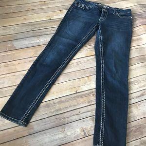 Paisley Sky thick stitch skinny jeans